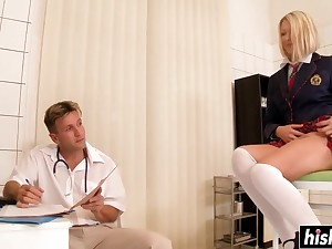 Gold Hair Girl Lucy craves for a delicious knob