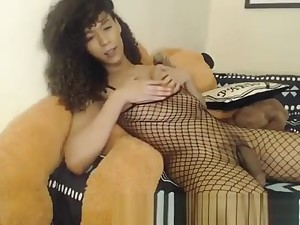 juvenile ebony shemale Plays Relating to Herself Superior to before Webca