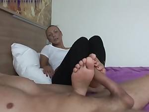Very Sexy Teen Footjob