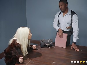 Bridgette B, gets her pussy pounded by her horny boyfriend surpassing be imparted to murder table