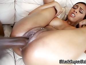 before black guy destroys her eaten away pussy hot impenetrable enjoyed fingering