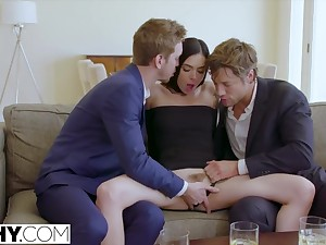 Marley Brinx Enjoys two dicks in three chick on Time off