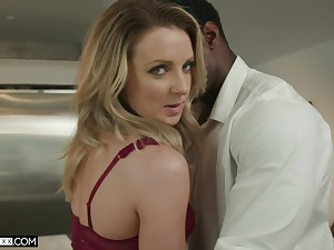 Insatiable white wife Kate Kennedy is cheating on her husband with black lover